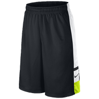 Nike Franchise Shorts - Boys' Grade School - Black / Light Green