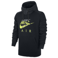 Nike AW77 FB Mix Fleece Hoodie - Men's - Black / Grey