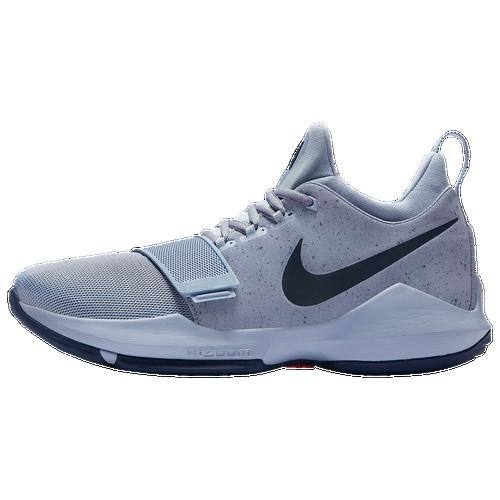Paul George Basketball Shoe Platinum Navy