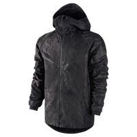 Nike Tech Windrunner Jacket - Men's - All Black / Black
