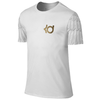 Nike KD Aunt Pearl T-Shirt - Men's -  Kevin Durant - White / Gold