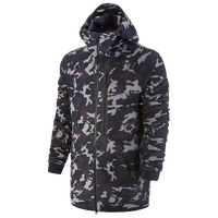 Nike Tech Camo Fleece Hoodie - Men's - Navy / Grey