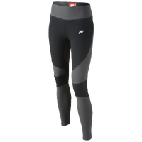 Nike Tech Fleece Tights - Girls' Grade School - Black / Grey