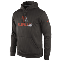 Nike NFL KO Sideline Performance Hoodie - Men's - Cleveland Browns - Brown / Orange