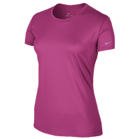 Nike Dri-FIT Challenger Short Sleeve T-Shirt - Women's - Pink / Pink