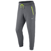Nike AV15 Conversation Cuff Fleece Pants - Men's - Grey / Light Green