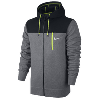 Nike AW15 Full Zip Fleece Hoodie - Men's - Grey / Black