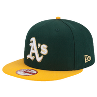 New Era MLB 9Fifty Team Champ Hasher Snapback - Men's - Oakland Athletics - Dark Green / Gold