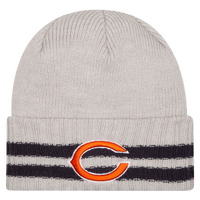 New Era NFL Away Game Cuffed Knit - Men's - Chicago Bears - Grey / Black