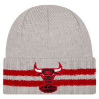 New Era NBA Striped Cuff Knit - Men's - Chicago Bulls - Grey / Red