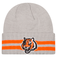 New Era NFL Away Game Cuffed Knit - Men's - Cincinnati Bengals - Grey / Orange
