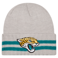 New Era NFL Away Game Cuffed Knit - Men's - Jacksonville Jaguars - Grey / Gold