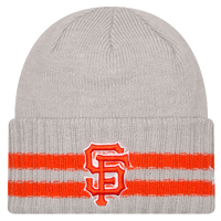 New Era MLB 2 Striped Cuff Knit - Men's - San Francisco Giants - Grey / Orange