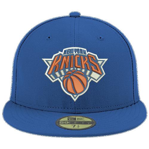 New Era NBA 59Fifty Cap - Men's - New York Knicks - Blue / Orange