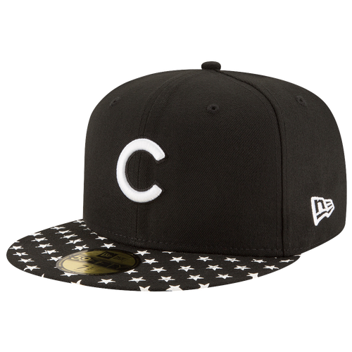 New Era MLB 59Fifty Starry Cap - Men's - Chicago Cubs - Black / White