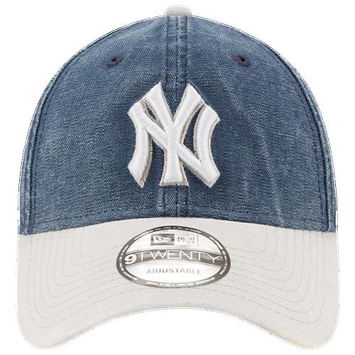 New Era MLB Rugged Canvas Adjustable Cap - Men's - New York Yankees - Navy / White