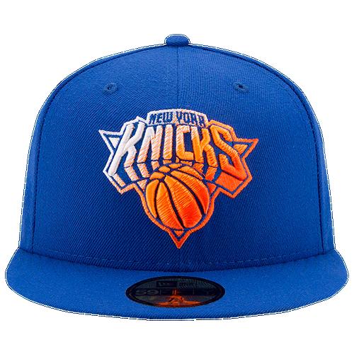 New Era NBA 59fifty Color Dim Cap - Men's - New York Knicks - Blue / Orange