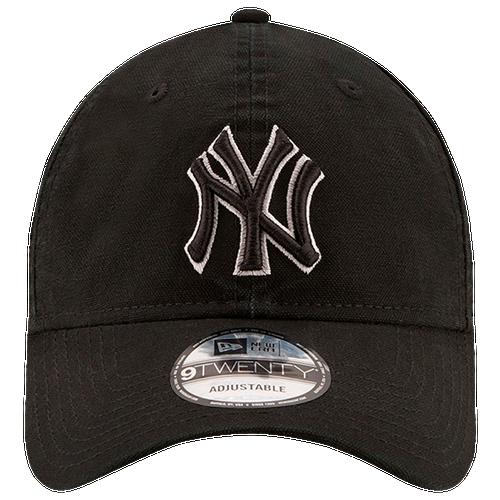 New Era MLB Core Classic Adjustable Cap - Men's - New York Yankees - Black / White