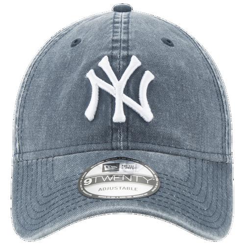 New Era MLB Rugged Wash Adjustable Cap - Men's - New York Yankees - Navy / White