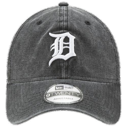 New Era MLB Rugged Wash Adjustable Cap - Men's - Detroit Tigers - Black / White