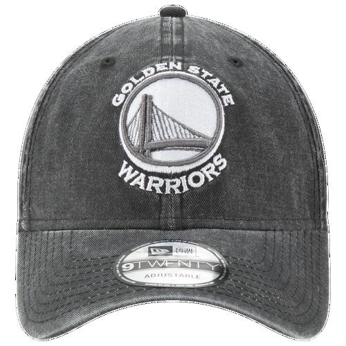 New Era NBA Rugged Wash Adjustable Cap - Men's - Golden State Warriors - Black / White