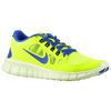 Nike Free 5.0 - Boys' Grade School - Light Green / Blue