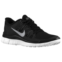 Nike Free 5 0 Women s Running Shoes Black Dark Grey White Metallic Silver from ladyfootlocker.com