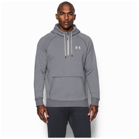 Under Armour Rival Novelty Pullover Hoodie - Men's - Grey / Off-White