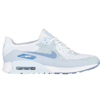 Nike Air Max 90 Ultra 2.0 Flyknit - Women's - White / Light Blue