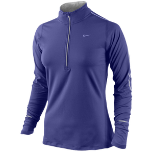 Nike Dri-FIT Element 1/2 Zip Top - Women's - Deep Night/Base Grey/Reflective Silver
