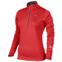 Nike Dri-FIT Element 1/2 Zip Top - Women's - Red / Red