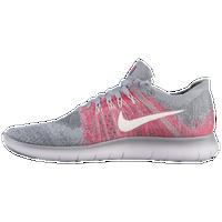 face697ed030 Nike Free RN Flyknit 2 - Girls  Grade School - Grey   Pink
