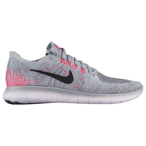 Nike Free RN Flyknit 2 - Girls' Grade School - Grey / Pink