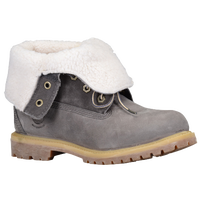 Timberland Teddy Fleece Fold Down Boots - Women's - Grey / White