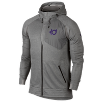 Nike KD Klutch Hyperelite Hoodie - Men's -  Kevin Durant - Grey / Purple