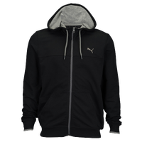 PUMA Full Zip Lightweight Hoodie - Men's - Black / Grey