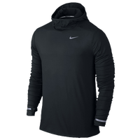 Nike Dri-FIT Element Hoodie - Men's - Black / Silver