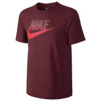 Nike Oversized Speckled Futura T-Shirt - Men's - Maroon / Red