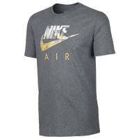 Nike Hybrid Futura T-Shirt - Men's - Grey / Gold