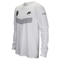 Nike Graphic Long Sleeve T-Shirt - Men's - White / Grey