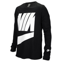 Nike Graphic Long Sleeve T-Shirt - Men's - Black / White