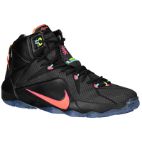 Nike LeBron 12 - Men's -  Lebron James - Black / Pink