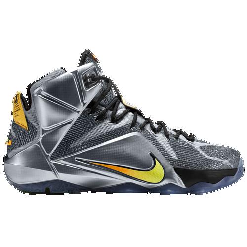 Nike LeBron 12 - Men\u0026#39;s - Basketball - Shoes - James, LeBron - Wolf Grey/Black/Bright Citrus