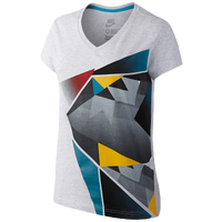 Nike N7 Graphic V-Neck T-Shirt - Women's - White / Multicolor