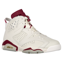 Jordan Retro 6 - Men's - Off-White / Maroon