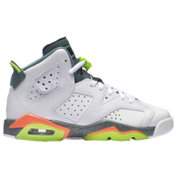 Jordan Retro 6 - Boys' Grade School - White / Light Green