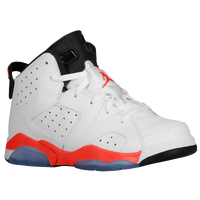 Jordan Retro 6 - Boys' Preschool - White / Orange