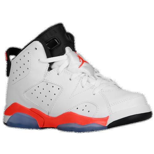 Jordan Retro 6 - Boys' Preschool - Basketball - Shoes - White/Infrared ... Retro