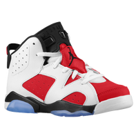 Jordan Retro 6 - Boys' Preschool - White / Red