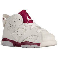 Jordan Retro 6 - Boys' Toddler - White / Maroon